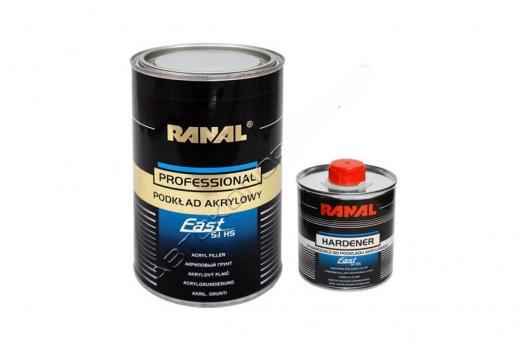 Грунт акриловый Ranal Black Line FAST 5+1 0,8л + 0,16л отв., серый