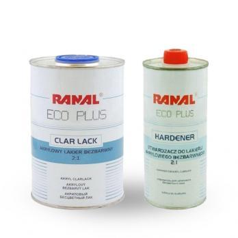 Лак Ranal бесцветный+ отвердитель 2+1 ECO 1л. +0,5 л.30301-1 30304-1
