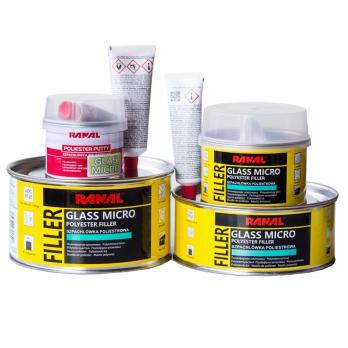 Шпатлевка Ranal MICRO GLASS 0.5 kg. (с микро стекловолокном)