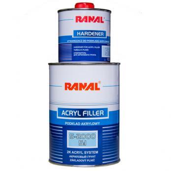Грунт акриловый Ranal 5+1 S-2000 (0,8л + 0,16л отв., белый)