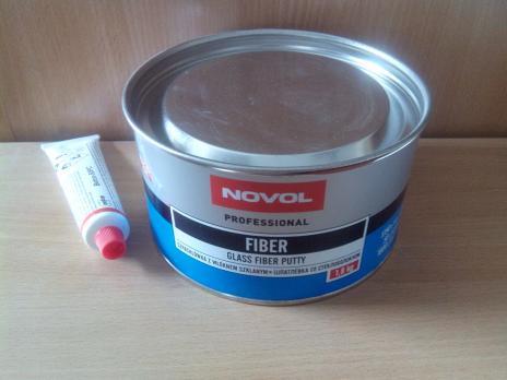 Шпаклевка NOVOL Fiber со стекловолокном 1.8 кг