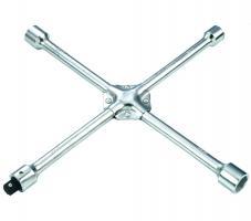 HANS. Ключ балонный крест усиленный, 17,19,21,22 мм. с переходником под 1/2