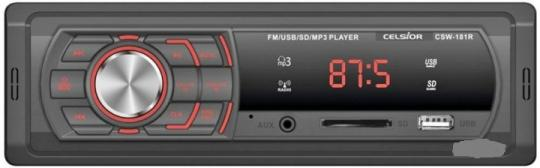 Магнитола Бездиск MP3/SD/USB/FM проигрыватель  Celsior CSW-181(R)