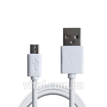 Кабель Grand-X USB-micro USB PM015WS 2,1A,100% медь, 1.5m, White