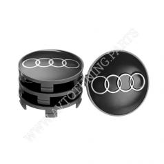 Заглушка колесного диска AUDI 69x65  серый металл (4шт