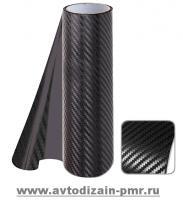 КАРБОН Декоративная пленка 1.52м х 30м Carbon GE-01 Black 3d чёрный