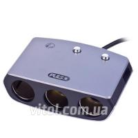 Разветвитель прикуривателя PULSO 3 выхода + 1USB 2400 mA 12/24V SC-3005 провод