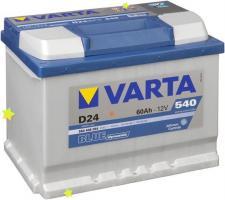 АКБ Varta 60Ah 540A (-+) BLUE DYN D24 560408054