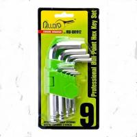 Alloid. Набор ключей изогнутых TORX. 9 предм. T10 -T50. (НТ-0912)