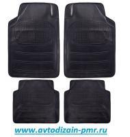 Коврики резина TS 10012-4 BK 4шт./компл. черные 68x46 42x46