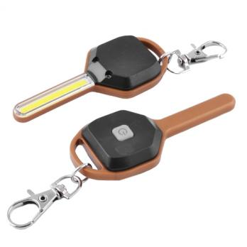 Брелок-фонарик ключ 158/5852-COB, 2xCR2032, карабин