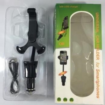 Держатель телефона 02CH016 c зарядкой (2 USB)