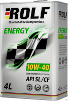 Масло 10w40 ROLF Energy A3/B4 SL/CF 4л металл