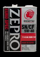 Масло IDEMITSU ZEPRO EURO SPEC SN/CF 5W40 4л.