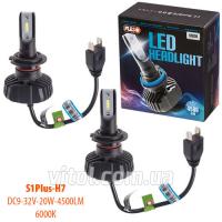 Лампы PULSO S1 PLUS/H7/LED-chips CPS/9-32v20w/4500Lm/6000K
