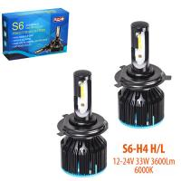 Лампы PULSO S6/LED/H4-H/L/Flip Chip/12-24V/33W/(4000Lm)3600Lm/6000K