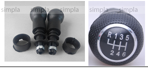 Ручка КПП  VW Golf 3/5 FX124 (черн. накладка) (5 скоростей) 12mm
