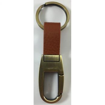 Брелок на ключи (коричневая кожа)