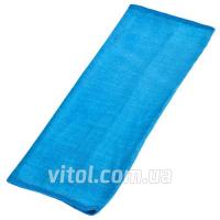 Салфетка(тряпка) микрофибра VR-01L-G д/стекла 40х30см/голубая