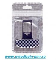 Заглушка ремня безопасности алюминиевая Карбон,Квадратики  (1шт)