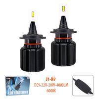 Лампы PULSO J1/H7/LED-chips CSP/9-32v2*20w/4000Lm/6000K