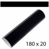 Полоса на лобовое стекло 200х1800мм черная глянцевая