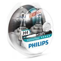 Автолампа Philips X-treme Vision H4 +130% 12V 60/55W P43t 2 шт. (12342XV+S2