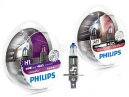 Автолампа Philips Vision Plus H1 +60% 12V 55W P14,5s 2 шт. (12258VPS2