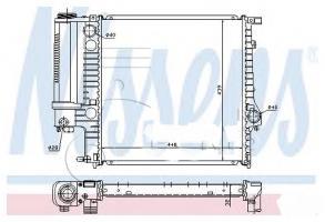 Радиатор 60623 BMW E36