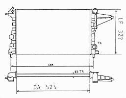 Радиатор охлаждения двиг 63223 Opel VECTRA A