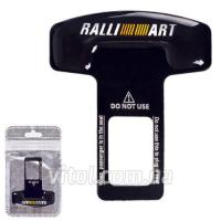Заглушка ремня безопасности алюминиевая Rally ART  (1шт)