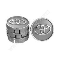 Заглушка колесного диска Toyota 60x55  серый ABS пластик (4шт.)