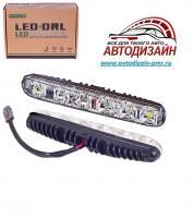 Фары доп/дневного света  XS-006 DRL 16 6LED/4W/12V/пластик/190*26mm/с поворотом бегущий 10453