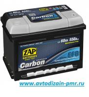 АКБ ZAP 62 Ah 550A (- +) L2 ZAP CARBON EFB Start/St гелевый