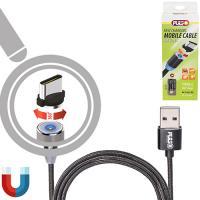 Кабель магнитный PULSO USB - Type C 2,4А, 2m, black (только зарядка) (MC-2302C BK)