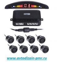Парктроник Pulso LP-10180/LED/8 датчиков D=22mm/коннектор/black