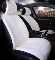 Накидки на сидения Меховые Светло серый цвет (2шт на передние сидения)