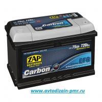 АКБ ZAP 75 Ah 720A (- +) LB3 ZAP CARBON EFB Start/St Гелевый
