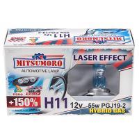 Автолампа MITSUMORO Н11 12v  55w PGJ19-2 v 2 +150 laser effect (ближний, птф)