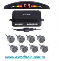 Парктроник Pulso LP-10180/LED/8 датчиков D=22mm/коннектор/grey