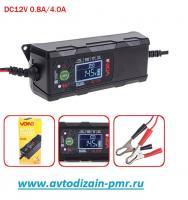 Зарядное устр-во VOIN VL-124 12V/4A/3-120AHR/LCD/Импульсное