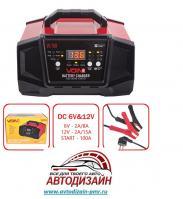 Пуско-зарядное устр-во VOIN VL-150 6-12V/2A-8A-15A/Start-100A/20-180AHR/LCD индик.