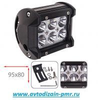 Фара прожектор LML-C2018F SPOT (6led*3w 95х80мм)