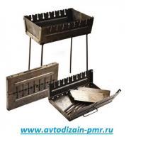 Мангал-чемодан на 10 шампуров УК-М10 57*27*5см (высота ножки 55см)