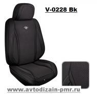 Набор чехлов V-0228 Bk полный комплектт экокожа черные
