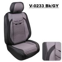 Набор чехлов V-0233 Bk/Gy полный комплект экокожа черно-серый