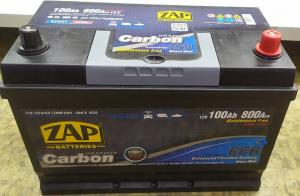 АКБ 100 Ah 800A (- +) Asia ZAP CARBON EFB St/Stop*