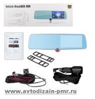 Автомобильный видеорегистратор-зеркало 1030, LCD 5, TOUCH SCREEN, ULTRA SLIM, 3 камеры,1080P Full H