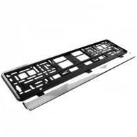 Рамка номера пластик Elegant EL 100 586 хром. HP