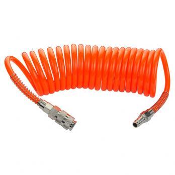 Шланг воздушный спиральный 5м оранжевый